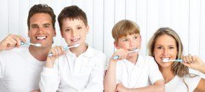 Family dentistry brushing teeth